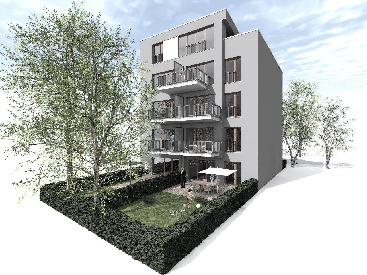 Projektstudie Wohngebäude Hamburg