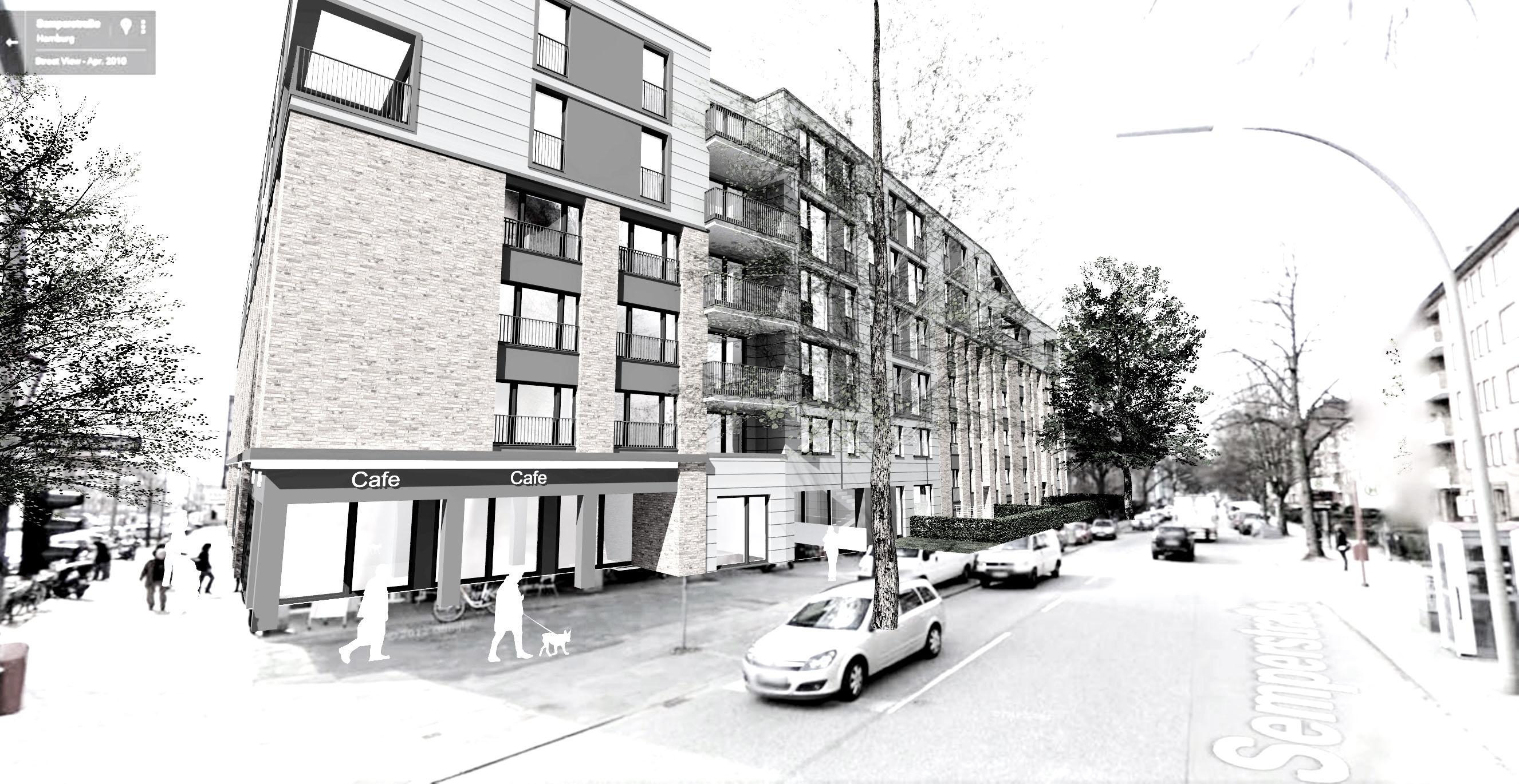 Projektstudie Baulückenschliessung Wohngebäude Hamburg