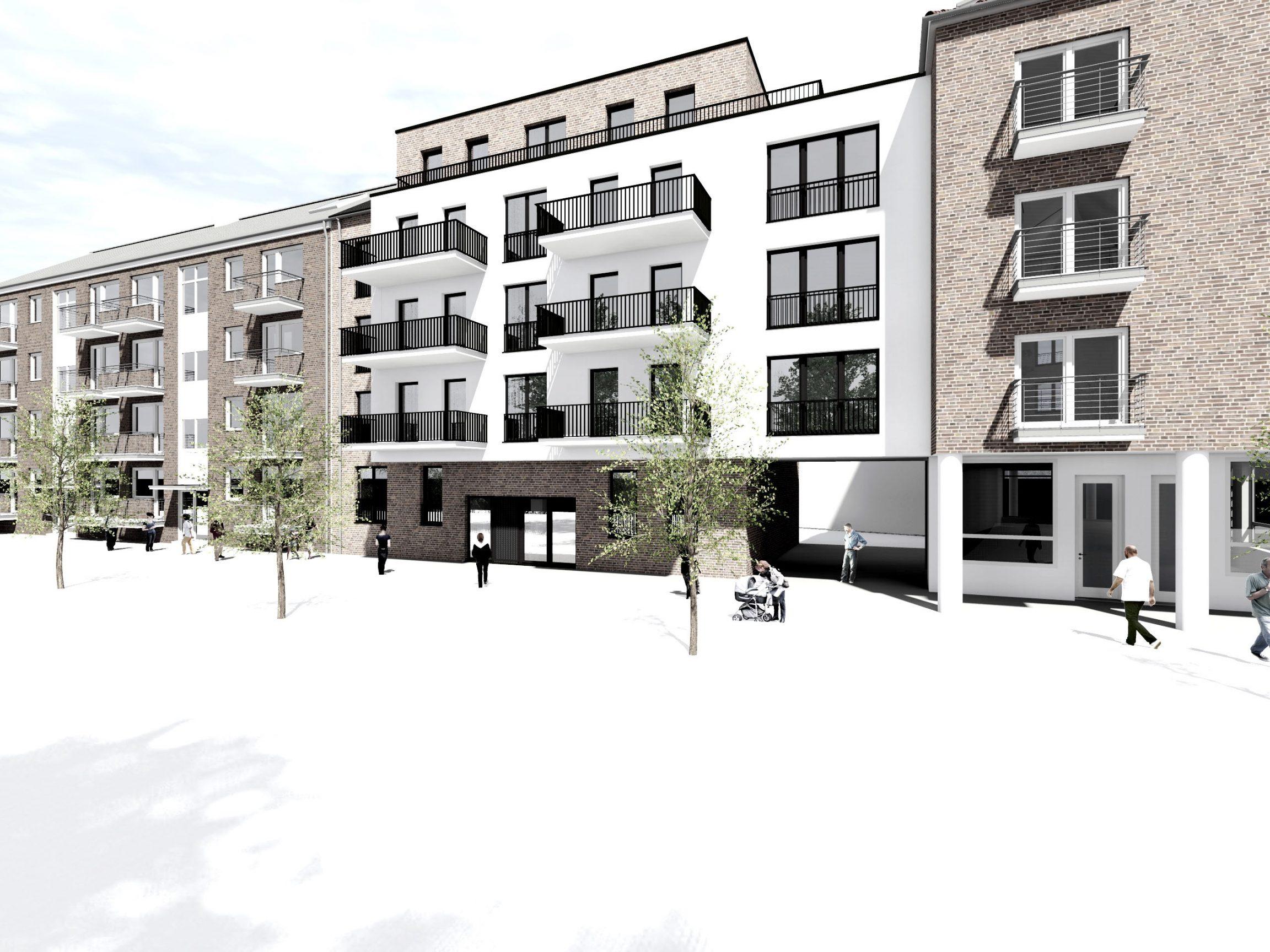 Neubau Wohngebäude Genhemigung erteilt Hamburg
