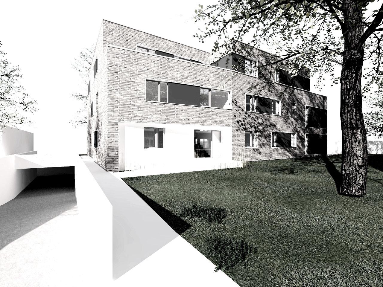 Bauantrag eingereicht Neubau Wohngebäude Hamburg