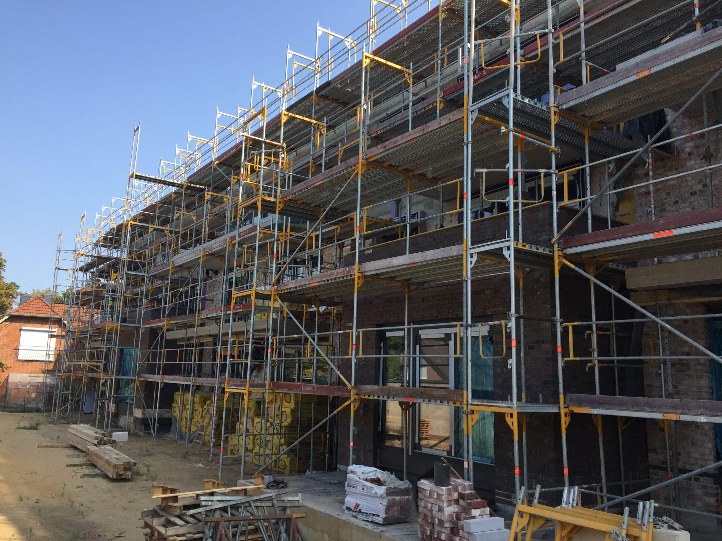 Neubau Wohngebäude Rohbaufertigstellung Hamburg